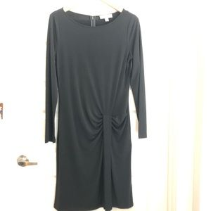 Michael kors long sleeve black dress